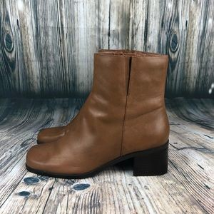 Madeline Stuart Camel Tan Leather Chelsea Boots